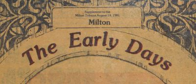 Milton: The Early Days
