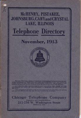 1913 November - McHenry Telephone Directory