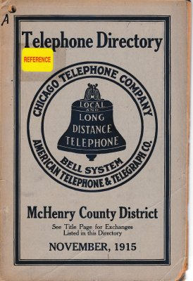 1915 November - McHenry Telephone Directory