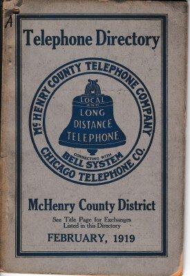 1919 February - McHenry Telephone Directory