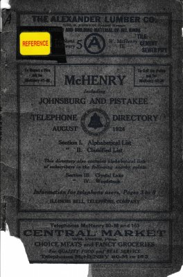 1924 August - McHenry Telephone Directory