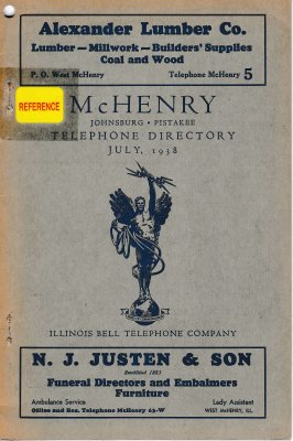 1938 July - McHenry Telephone Directory
