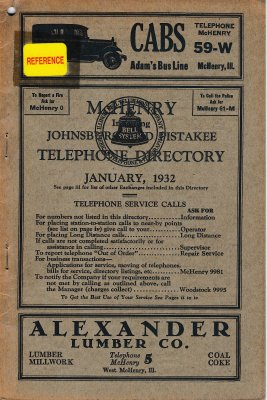 1932 January - McHenry Telephone Directories