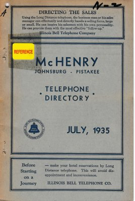 1935 July - McHenry Telephone Directories
