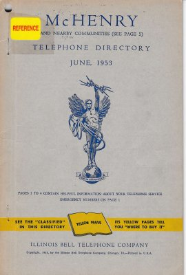 1953 June - McHenry Telephone Directory
