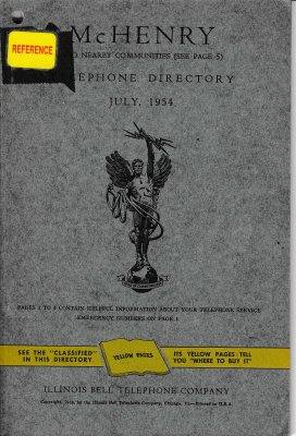 1954 July - McHenry Telephone Directory
