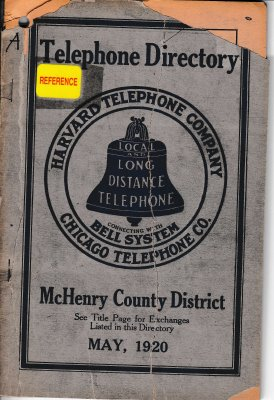 1920 May - McHenry Telephone Directory