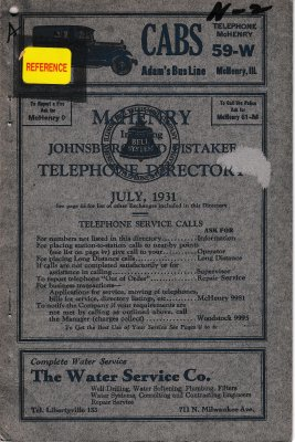 1931 July - McHenry Telephone Directory