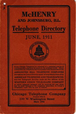 1911 June - McHenry Telephone Directory