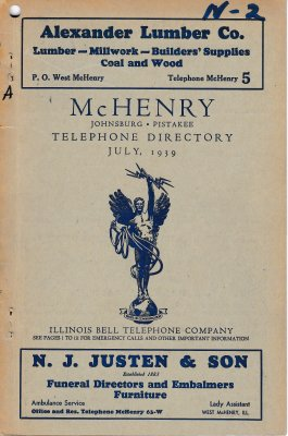 1939 July - McHenry Telephone Directory