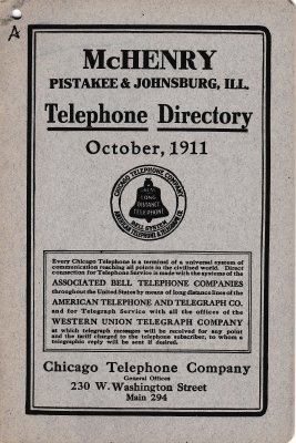 1911 October - McHenry Telephone Directory