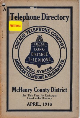 1916 April - McHenry Telephone Directory