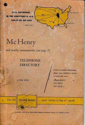 1955 June - McHenry Telephone Directory