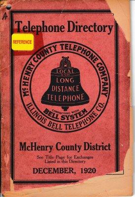1920 December - Telephone Directory