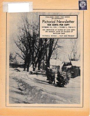 The Pictorial Newsletter: November 22, 1961
