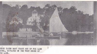 Fox Lake Hotel Taken Many Years Ago.