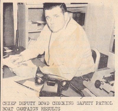 Edward Dowd Checking Safety Patrol Boat Campaign Results