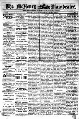 McHenry Plaindealer (McHenry, IL), 12 Apr 1876
