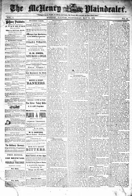 McHenry Plaindealer (McHenry, IL), 31 May 1876
