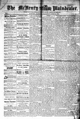 McHenry Plaindealer (McHenry, IL), 21 Jun 1876