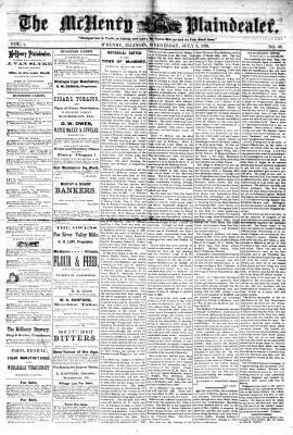 McHenry Plaindealer (McHenry, IL), 5 Jul 1876