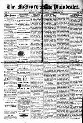 McHenry Plaindealer (McHenry, IL), 22 Nov 1876