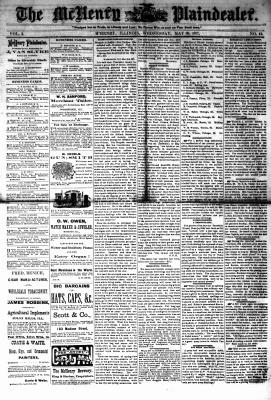McHenry Plaindealer (McHenry, IL), 30 May 1877