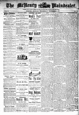 McHenry Plaindealer (McHenry, IL), 7 Nov 1877