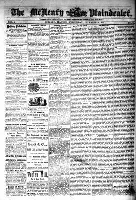 McHenry Plaindealer (McHenry, IL), 19 Dec 1877