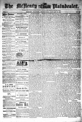 McHenry Plaindealer (McHenry, IL), 23 Jan 1878