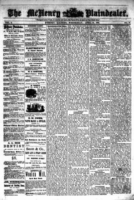 McHenry Plaindealer (McHenry, IL), 10 Apr 1878