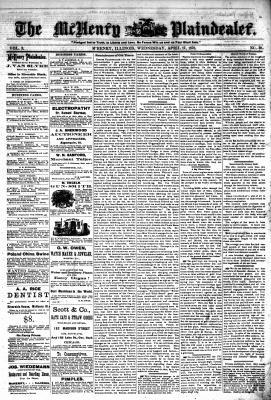 McHenry Plaindealer (McHenry, IL), 17 Apr 1878