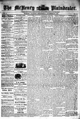 McHenry Plaindealer (McHenry, IL), 27 Nov 1878