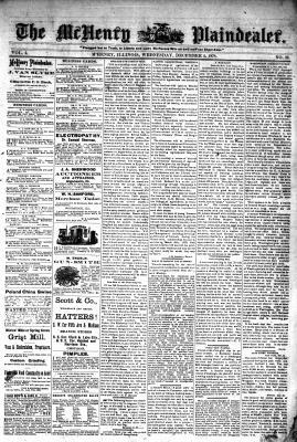 McHenry Plaindealer (McHenry, IL), 4 Dec 1878