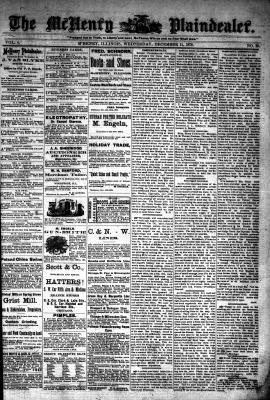 McHenry Plaindealer (McHenry, IL), 11 Dec 1878