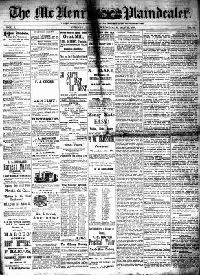 McHenry Plaindealer (McHenry, IL), 19 May 1880