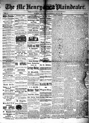 McHenry Plaindealer (McHenry, IL), 25 May 1881