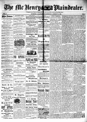 McHenry Plaindealer (McHenry, IL), 31 Aug 1881