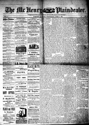 McHenry Plaindealer (McHenry, IL), 5 Apr 1882