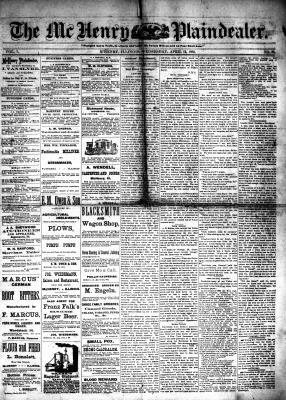McHenry Plaindealer (McHenry, IL), 12 Apr 1882