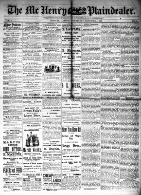 McHenry Plaindealer (McHenry, IL), 1 Nov 1882