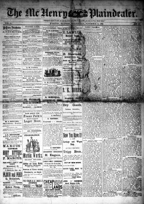 McHenry Plaindealer (McHenry, IL), 15 Nov 1882