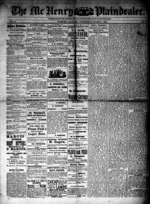 McHenry Plaindealer (McHenry, IL), 7 Mar 1883