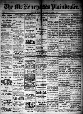 McHenry Plaindealer (McHenry, IL), 4 Apr 1883