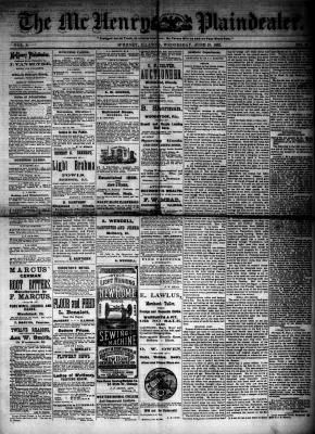 McHenry Plaindealer (McHenry, IL), 27 Jun 1883