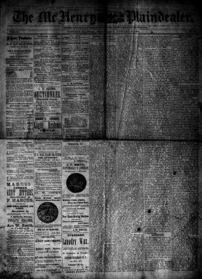 McHenry Plaindealer (McHenry, IL), 23 Jan 1884