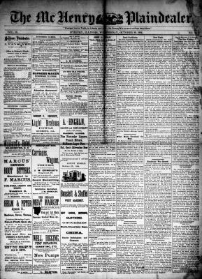 McHenry Plaindealer (McHenry, IL), 29 Oct 1884