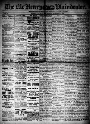 McHenry Plaindealer (McHenry, IL), 11 Feb 1885