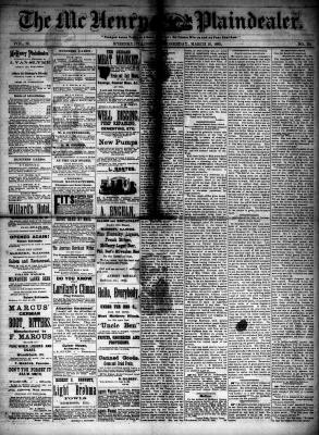 McHenry Plaindealer (McHenry, IL), 18 Mar 1885