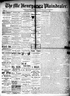 McHenry Plaindealer (McHenry, IL), 11 Nov 1885